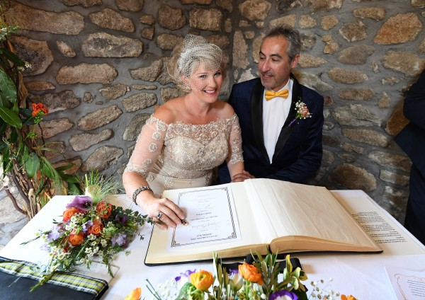 Cheryl and Lawrence's Joyful and Operatic Celebrant Ceremony. The Cornish Celebrants. Bob Berry Photography