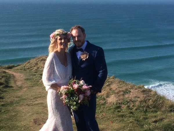 Bernice and Wade Marrying On The  Cornish Coast - Cornish Celebrants